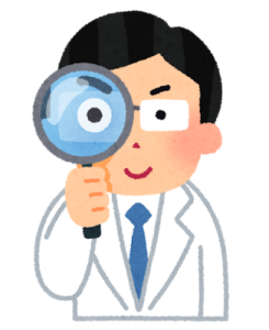 虫眼鏡で調べるドクター